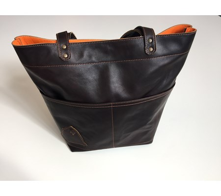 TOTE - Chocolate with Orange flash - From £125